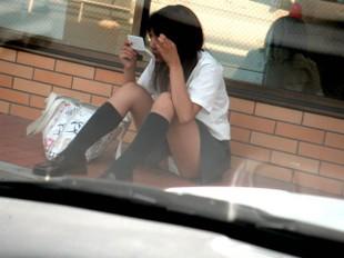 【盗撮動画】夜の公園でHしてる高☆生カップルを盗撮!